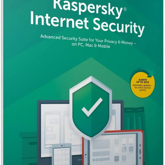Kaspersky Internet Security 2020 | 3 Devices | 1 Year | Antivirus and Secure VPN Included | PC/Mac/Android | Activation Code by Post