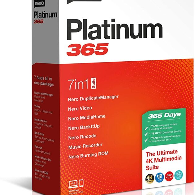 Nero Platinum Unlimited|Professional|1|One-time purchase - Perpetual License|PC|Disc