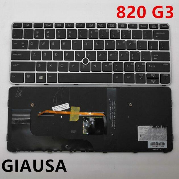 (95%New) For HP Elitebook 725 G3 820 G3 828 G3 G4 Genuine Laptop Keyboard Original for HP 820 G3 Laptop Replacement Keyboard