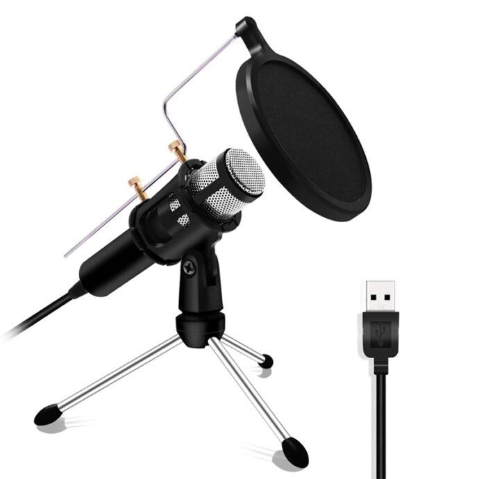 Computer karaoke voice microphone mobile phone microphone condenser microphone bracket set