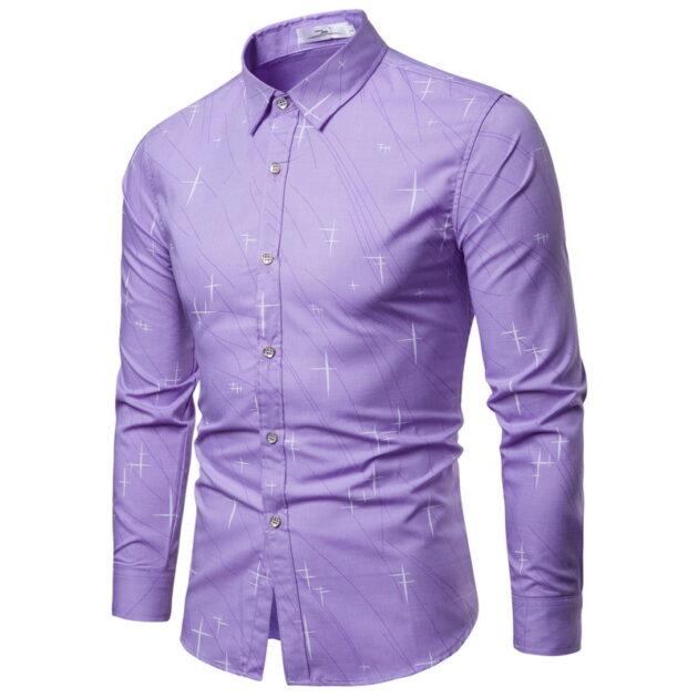 Irregular pattern long sleeve shirt