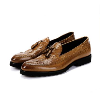 Men's dress shoes tassels Brock carved shoes