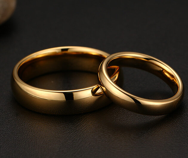 Meaeguet Vintage Tungsten Carbide Wedding Rings For Couple Solid Gold-Color Lover Engagement Anel Jewelry