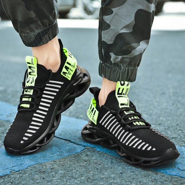 Breathable sneakers mesh men's shoes