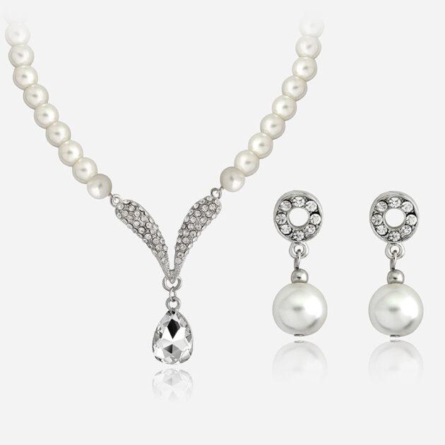 Bridal jewelry set, Korean necklace wholesale, Korean wedding bride jewelry set