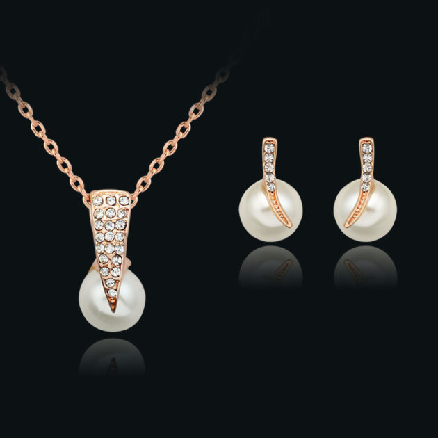 Foreign trade source, bridal beads, pearl necklace, European and American wedding jewelry, banquet dress, Earring Jewelry