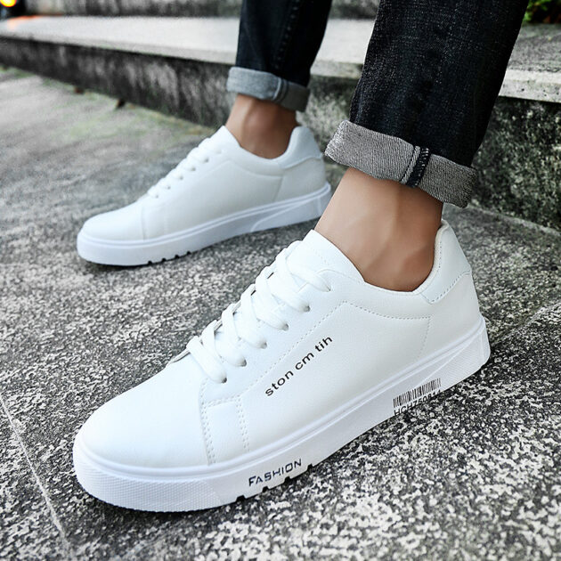 In the autumn of 2020 new shoes wholesale shoes running shoes men tie students low permeable white shoes