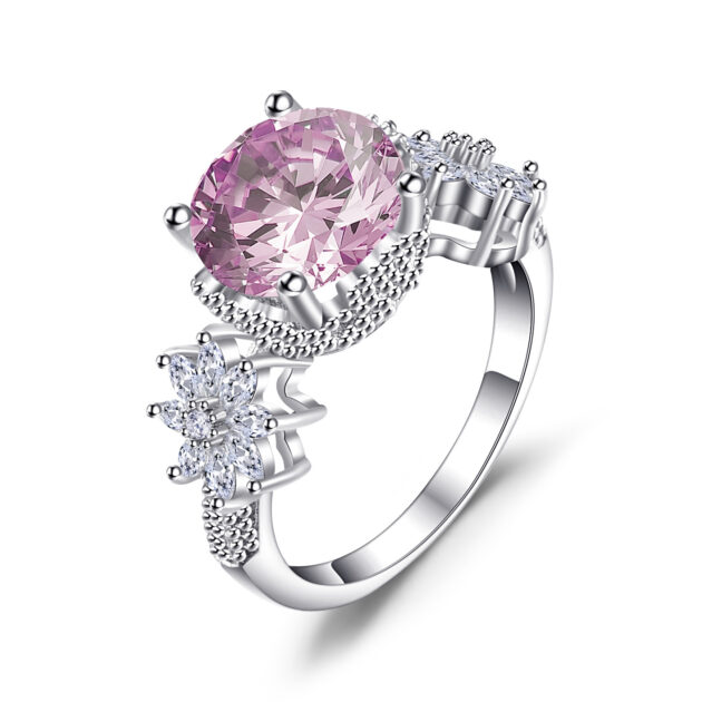 Creative diamond ring Amazon wish new hot selling European and American Princess ring engagement ring lady hand ornaments