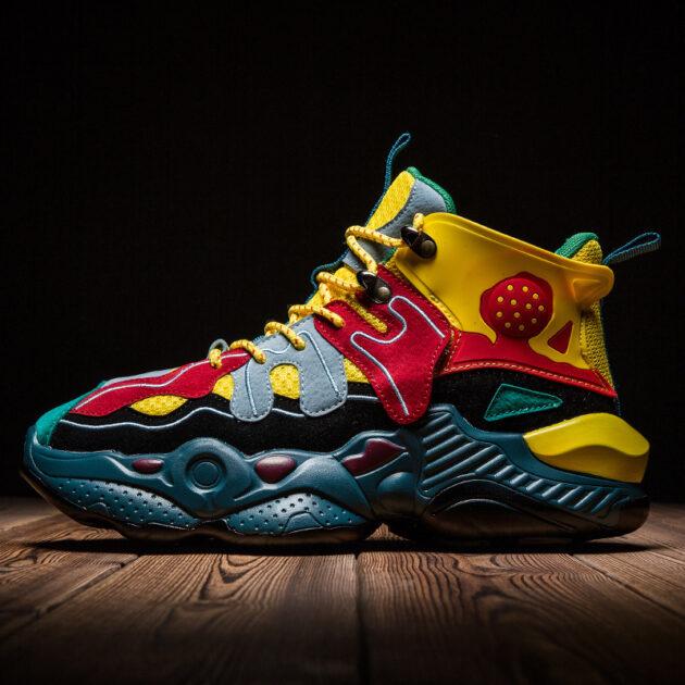 Men's shoes colorblock sneakers