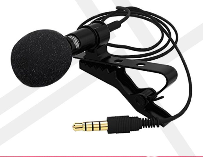 Omnidirectional lavalier mobile phone microphone