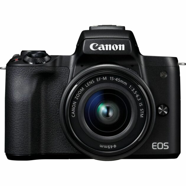 Canon EOS M50 Black + EF-M 15-45mm IS STM Lens 24.1 MP WiFi Black 2680C058