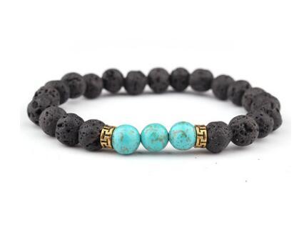 Colorful Bracelet Seven Chakra Energy Yoga Beads Gold Hand Bracelets