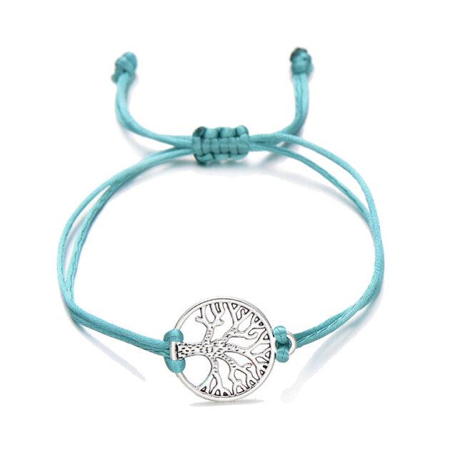 Pipitree Life Tree Angel Leaf Heart Crown Charm Wish Bracelet Red String Bracelets
