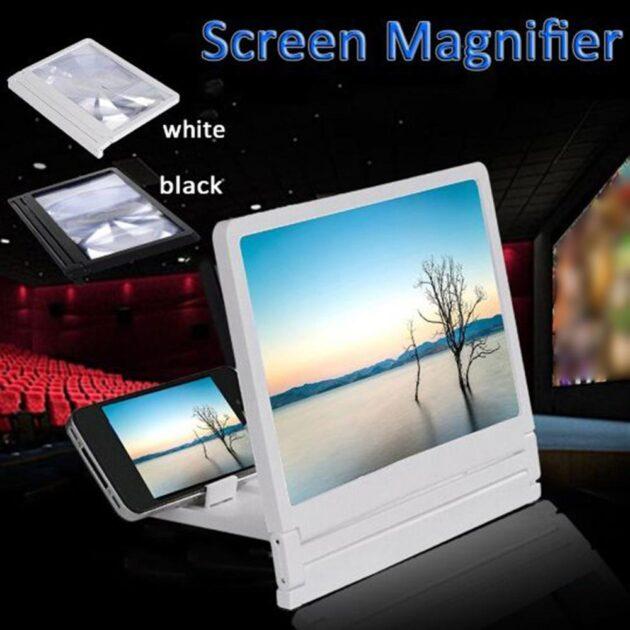 Screen Amplifier Mobile Phone 3D Screen Amplifier Radiation Proof Amplifier Bracket Smartphone Movie Amplifying Projector Stand