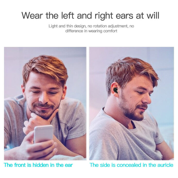 Mini Bluetooth Earphone Wireless In-Ear Invisible Earbuds Handsfree Headset Stereo with Mic for Iphone 11 Huawei Mate 30