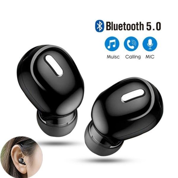 Mini Wireless Bluetooth 5.0 Earphone in Ear Sport with Mic Handsfree Headset Earbuds For Samsung Huawei All Phone Earphones