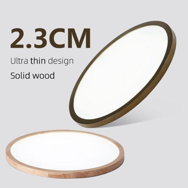 Ultra-Thin LED 2.3cm Ceiling Light Modern Ceiling Lamp Surface Mount Flush Panel Remote Control Light for Foyer Bedroom