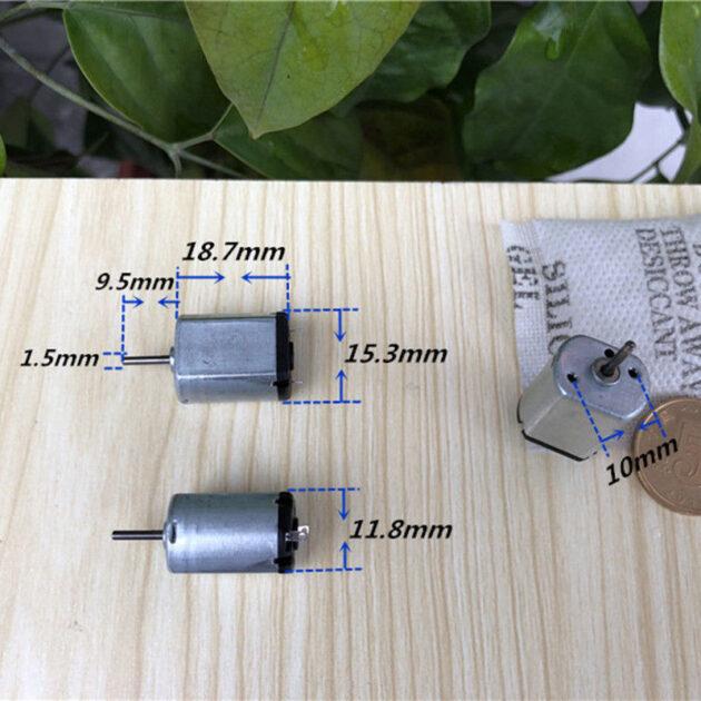 FF-030PK-13110 DC 1.5V-4.5V 3V 11800RPM High Speed Micro Mini 15mm Electric Motor shaft diameter 1.5mm for DIY Car and Boat