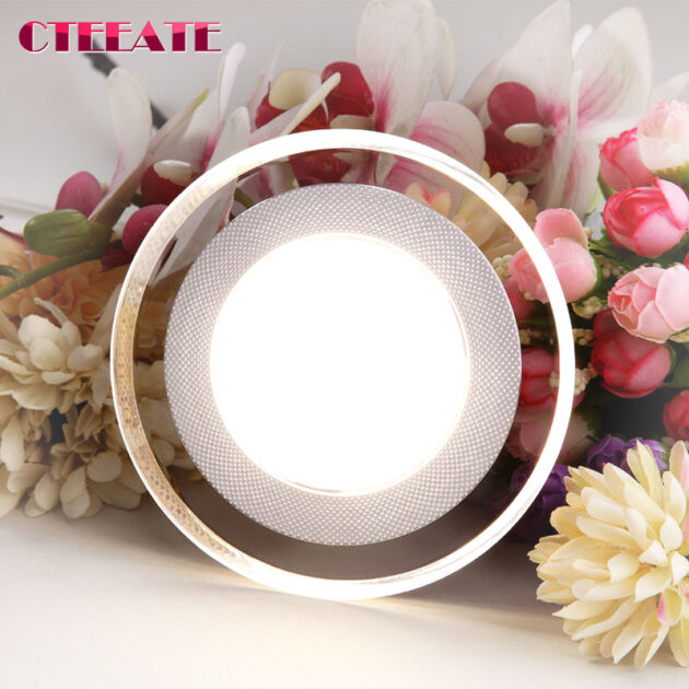 Light guide LED Downlight 3W 5W 7W 9W 12W 15W 18W Acrylic Panel Lights Ceiling Recessed Lamps High Brightness