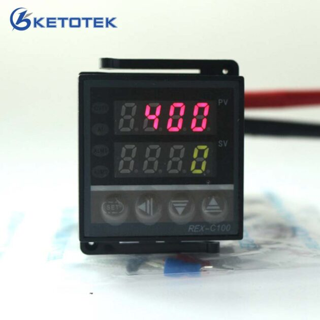 Digital PID Thermostat Temperature Controller Regulator REX-C100 With Thermocouple K Probe,Relay Output