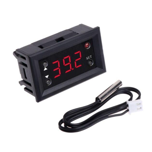 2019 W1218 Digital Thermostat DC12V Temperature Controller For Incubator w/ Probe Red