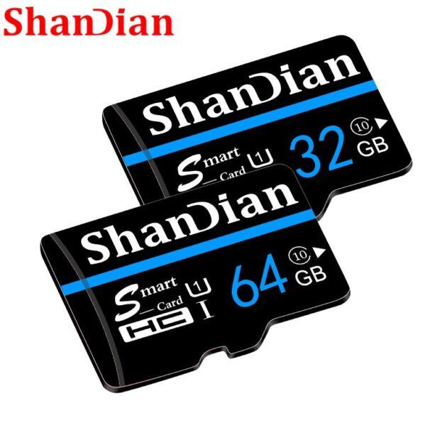 SHANDIAN New arrival micro sd carte class 10 Micro SD Card 32GB 16GB 64GB SD memory card 4GB C6 cartao de memoria carte memory