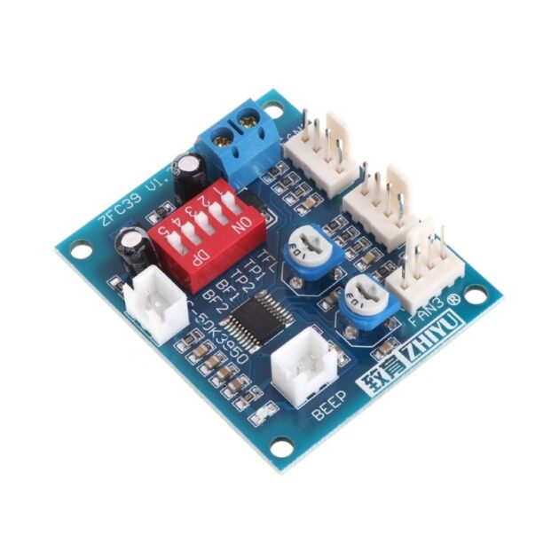 12V PC CPU 4 Wire Fan Temperature Control PWM Speed Control Module with Alarm + Buzzer Sensor