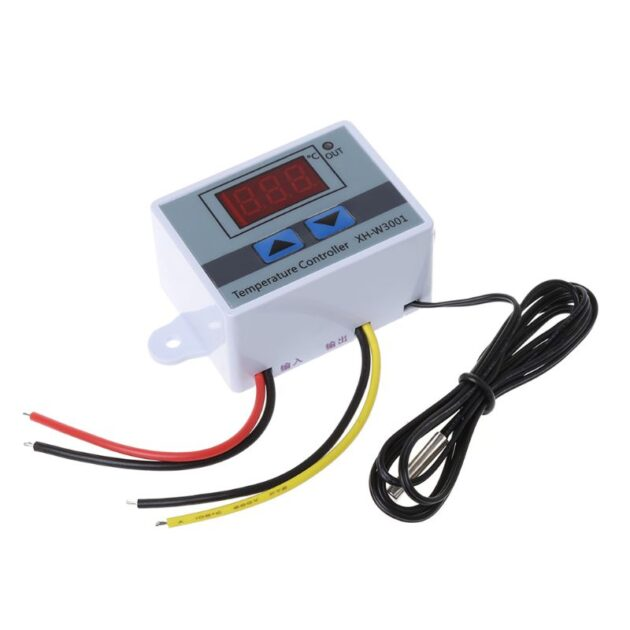 220V LED Digital Temperature Controller 10A Thermostat Control Switch Probe New 517A