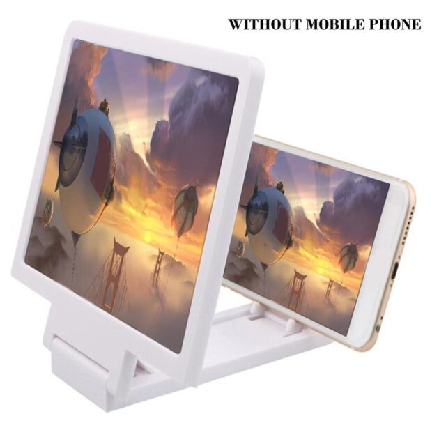 Mobile Phone 3D Screen Magnifier Eye protection Phone Video Screen Amplifier Expander Stand Holder