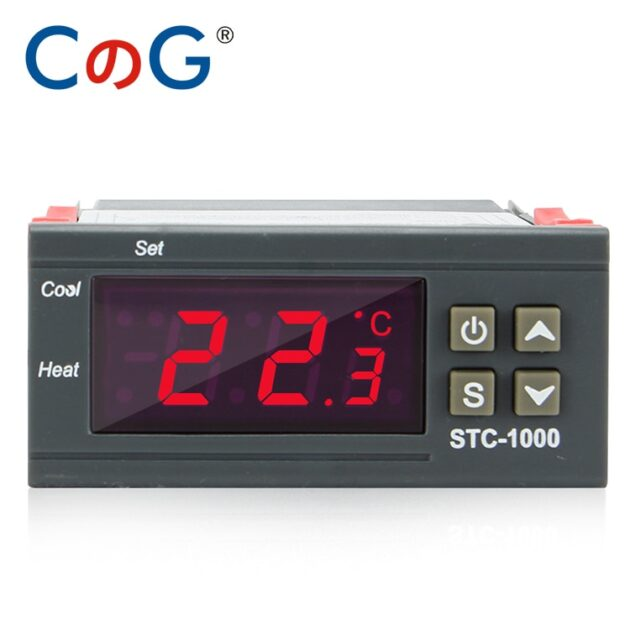 CG STC-1000 12V 24V 220V Digital Temperature Controller For Incubator Relay LED 10A Heating Cooling Thermoregulator Thermostat