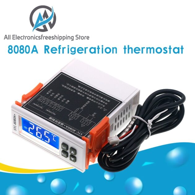 STC-8080A+ Refrigerator Thermostat Temperature Controller Refrigeration Automatic Defrost Timer Intelligent Single Probe