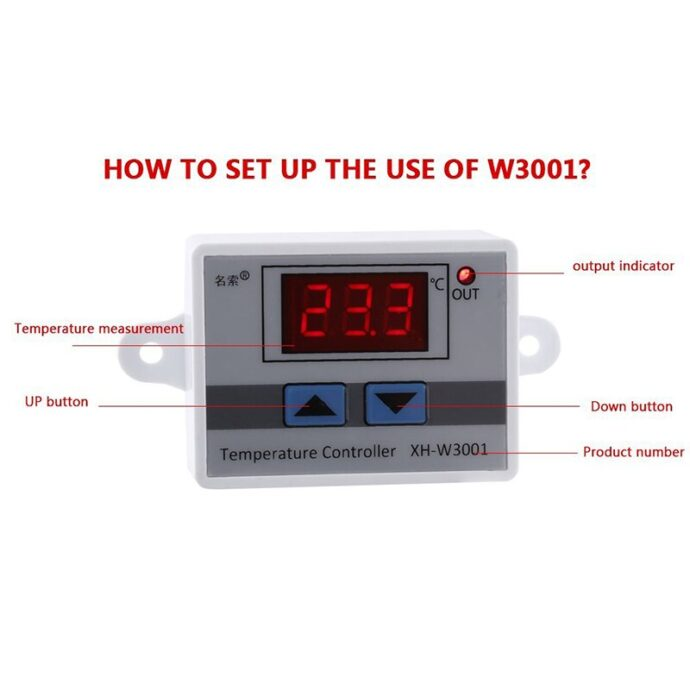 Digital LED Temperature Controller Thermostat Control Switch