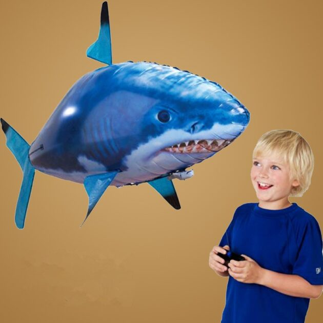 Remote Control Shark Toy Air Swimming Fish Infrared Flying RC Airplanes Balloons
