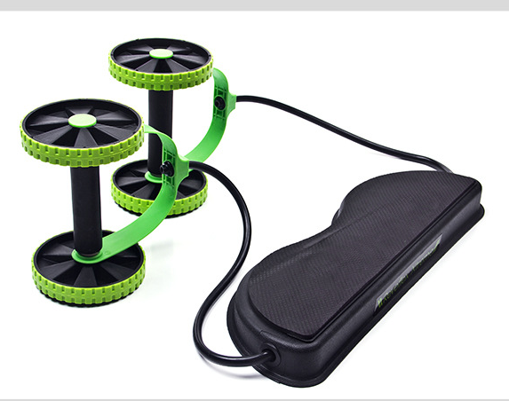 Tension Foldable Sit-up Equipment Revoflex Xtreme Rally Multifunction Pull Rope Muscle Training Wheeled Fitness Equipment