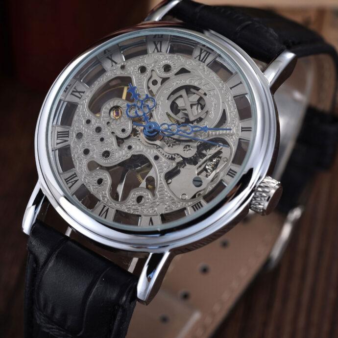 The British men's business GOER semi automatic mechanical thin hollow mechanical retro fashion men waterproof watch