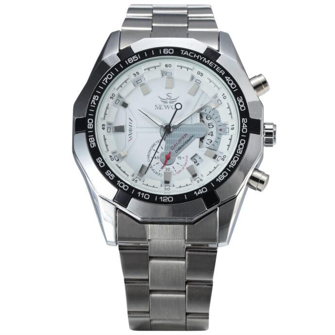 Hollow Mechanical Watch Watch Male Steel Band Trend