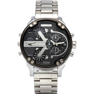Large dial casual quartz watch