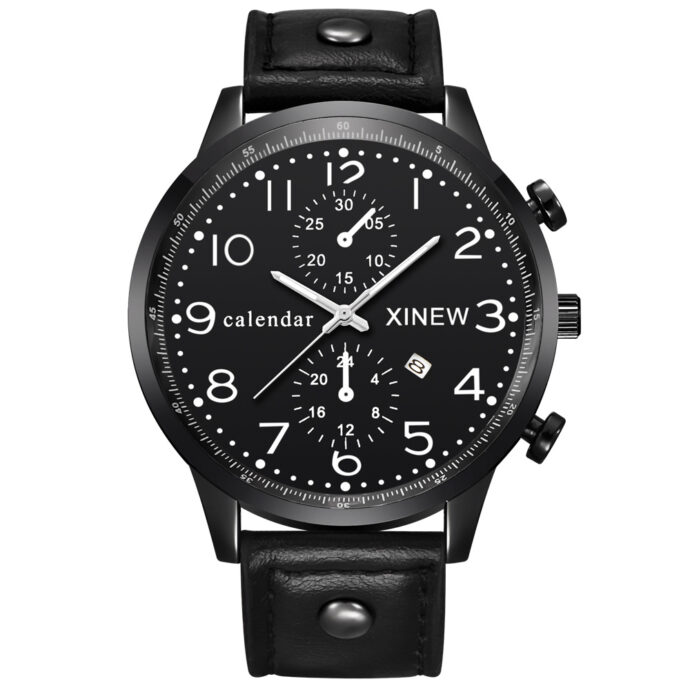 XINEW belt's foreign trade business calendar quartz speed sold through micro business on behalf of a men's Watch
