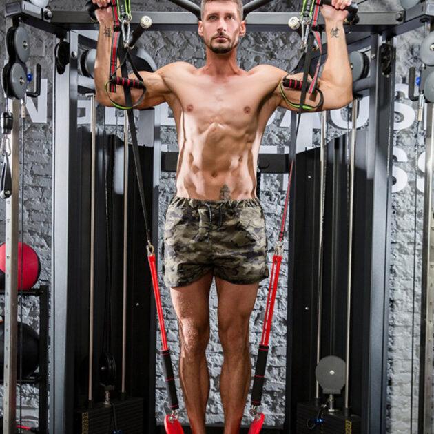 Horizontal bar auxiliary belt elastic rope resistance belt
