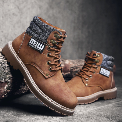 2021 new winter boots for men shoes boots Martin British high shoes fashion classic tooling shoes wholesale