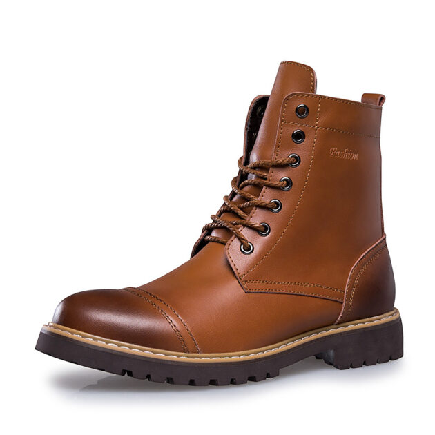 Leather Martin Boots Men's Leather Shoes