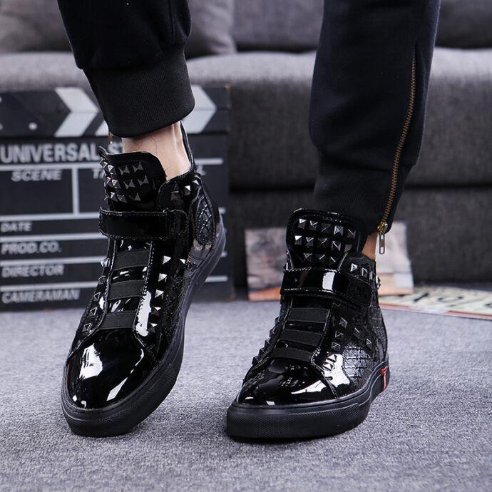 Men's Velcro ankle boots