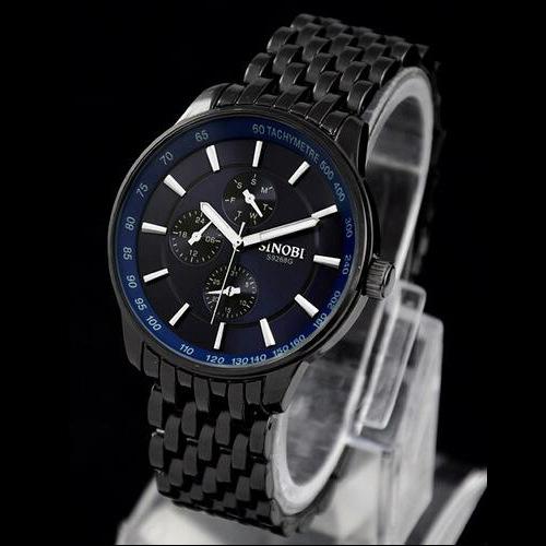 Steel belt watch three-eye quartz watch