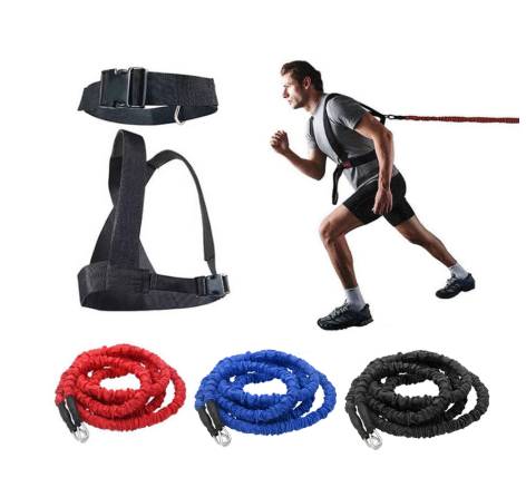 Double resistance band pull pull rope stretch track and field track and field race force explosive jump