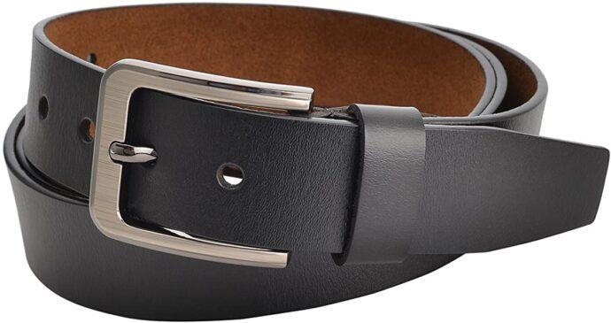 """Men Belt Genuine Leather for Regular & Big and Tall (35""""-62"""") Jeans Belt Dress Belt Casual & Work"""