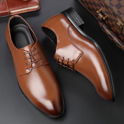 Four new shoes men's dress shoes black tie business men leather shoes factory direct code