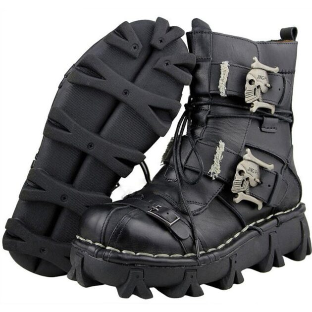 Retro Tooling Personality Motorcycle Boots