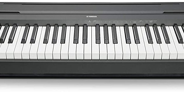 Yamaha P-45B Digital Piano - Light and Portable Piano for Hobbyists and Beginners, in Black