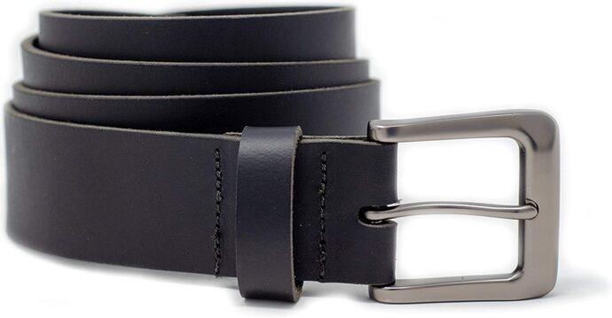 Ashford Ridge Mens 38mm Full Hide Real Leather Belt for Jeans