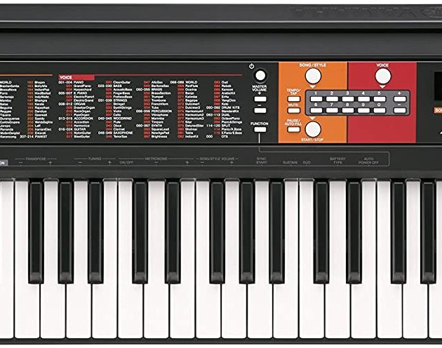 Yamaha PSR-F51 Electronic Keyboard - Portable Beginners Instrument with 61 Full Sized Keys, in Black